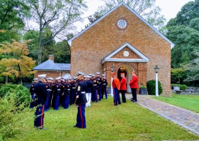 Marines at Chesty Puller family church, Christ Church, Saluda, Va