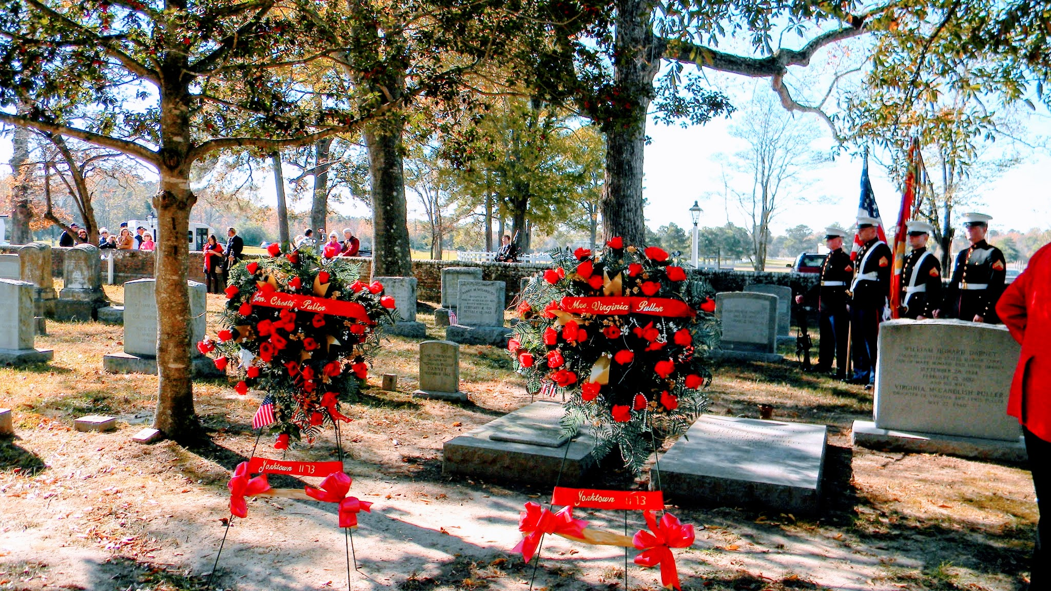Graves of Chesty and Virginia Puller, Saluda, VA