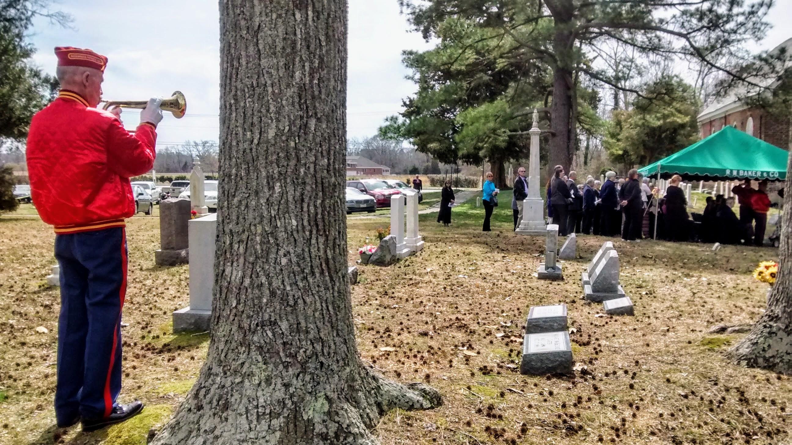 Funeral of Edward Cotten, USMC, St. John's Suffolk, VA